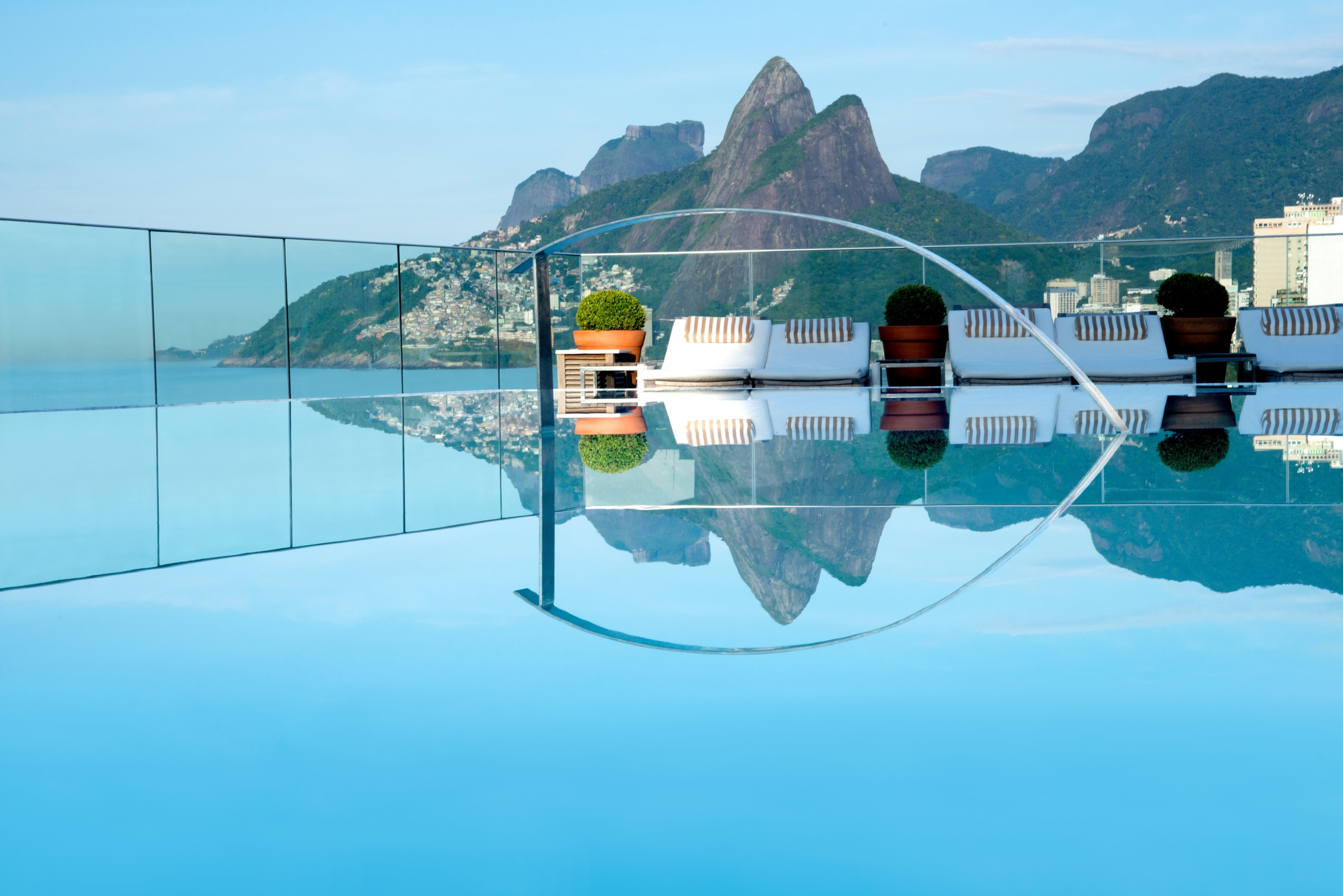 Stay above the fray of Rio's legendary Ipanema Beach in the rooftop pool at Hotel Fasano.