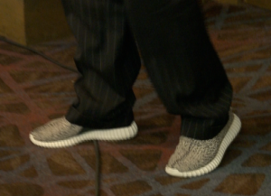 Mississippi State coach Dan Mullen's Yeezys