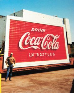 Old Coca-Cola sign from downtown Florence (Photo By: Larry Faulkner)