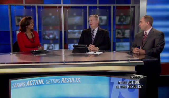 Clarissa McClain, Greg Screws and Jason Simpson on a recent edition of WHNT News 19 at 6:00 p.m.