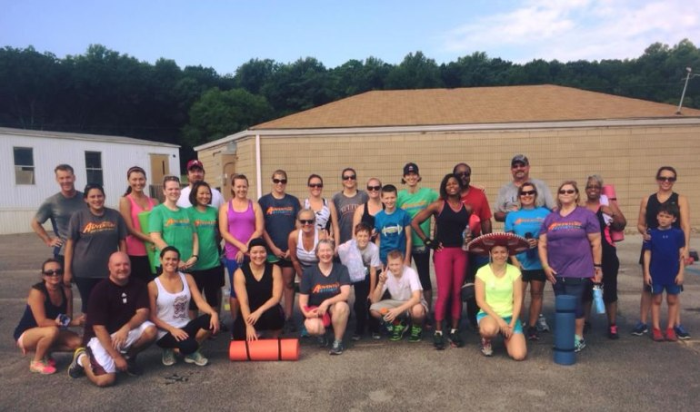 Huntsville Adventure Boot Camp collected more than $1,200 during a charity boot camp session held August 15 for the Smallwood/Sokolowski family. (Photo: Joe Martin)