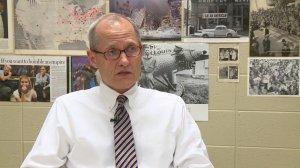 Cary Hurt, a 29-year teaching veteran at Grissom High School