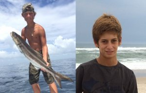 Austin Stephanos (left) 14, and Perry Cohen (right), 14.The two have been missing since Saturday, July 25 when they did not return from a fishing trip.