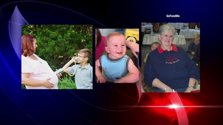 Kristen Chambers Henderson, Clayton Chambers, Eli Sokolowski and Jean Smallwood died in a fire on St. Clair Lane on August 4. Henderson was nine months pregnant. (Photos: Gofundme)
