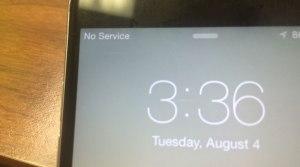 """No Service"" message on a Verizon phone in Cullman, Alabama (Photo: Carson Clark)"