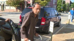 Sureshbhai Patel, outside Huntsville's federal courthouse in September for Eric Parker's first trial. (WHNT News 19)