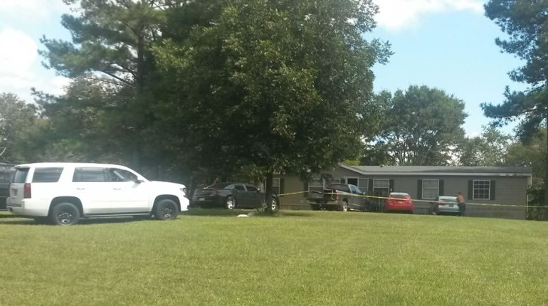 The shooting scene on Lovell Road in Limestone County. Deputies were called here just after 12 p.m. Tuesday, Sept. 29. (Photo: Dion Hose/WHNT News 19)