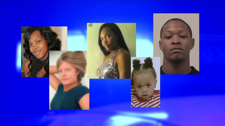 The victims: Amber McCaulley, Chabreya Campbell (who was pregnant), Rashad Rico Ragland, as well as Warren Crutcher and Jessica Brown