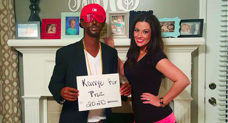 Heath Morrow, a Decatur elementary school teacher, posed as Kanye West in black face for a Halloween party. His wife went as Kim Kardashian.