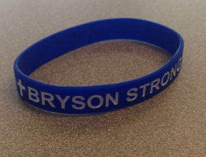 Hundreds in the community are now donning Bryson Strong bracelets (PHOTO: Danielle Richey)
