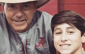 Bryson and Alabama Head Football Coach Nick Saban (PHOTO: Danielle Richey)