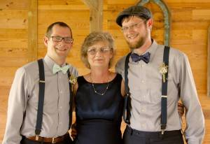 Connie and her two sons, Austin and Cameron (Photo Courtesy: Mark White)