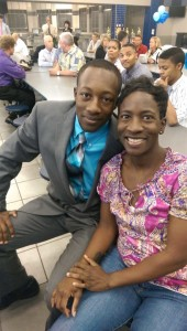 Jaizon Collins (L) poses with his mom, Tanya Edwards (R) (Photo provided by Tanya Edwards)
