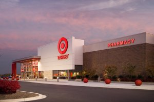 An exterior photograph of a Target store in Martinsburg, Virginia.