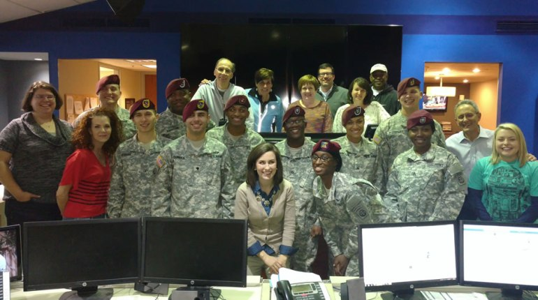 WHNT News 19 staff members with the 82nd Airborne All-American Chorus