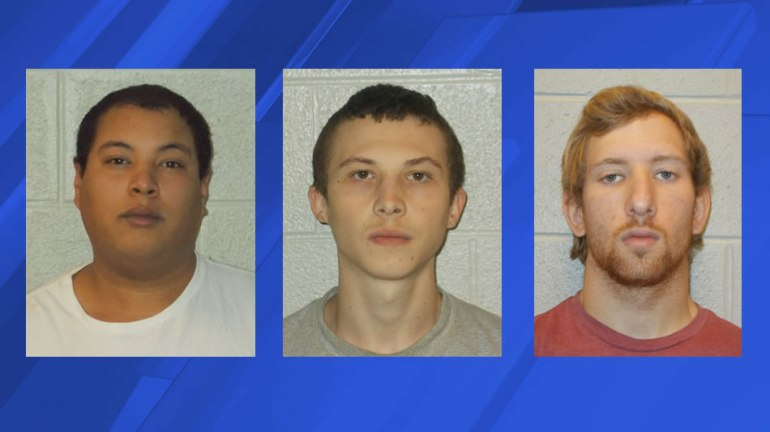 Left to right: Corey Cozad, Zachary Posey and Tyler Petty (Photos: Fayetteville Police Department)