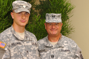 Carson Williams, left, and his father Frank