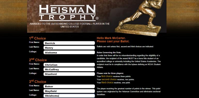 heisman vote