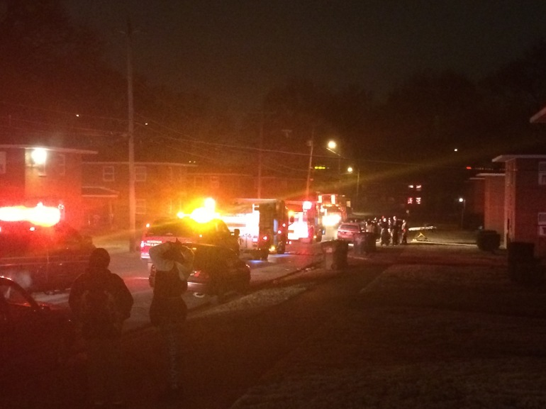 A photo from the scene at Mason Ct (Photo: Jeremy Jackson