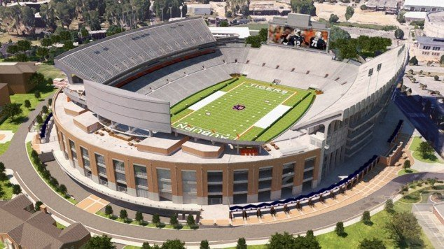 Rendering of possible renovations to the North End Zone at Auburn University's  Jordan-Hare Stadium (Image: Auburntigers.com)