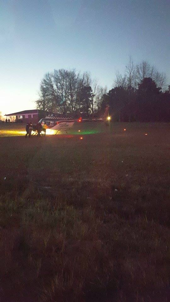 Air Evac responds to wreck in Morgan County (Image: Emily Shelton)