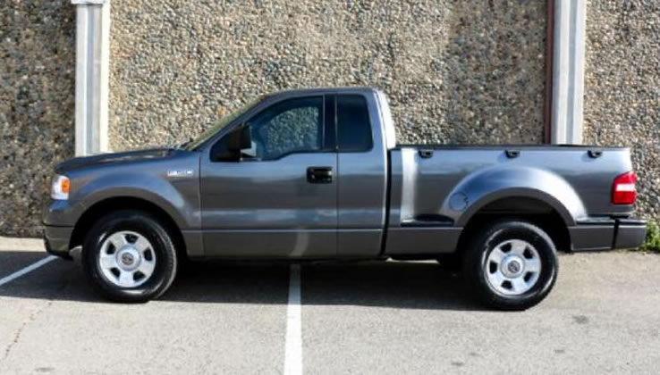 A gray Ford F-150, similar to the one Mr. Cotham may be driving.