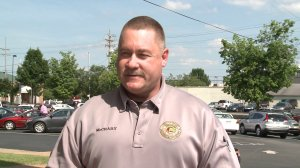 This is an image from a 2013 interview with Randall McCrary. Family members confirm he was the deputy shot in Florence on Wednesday evening. (WHNT News 19)