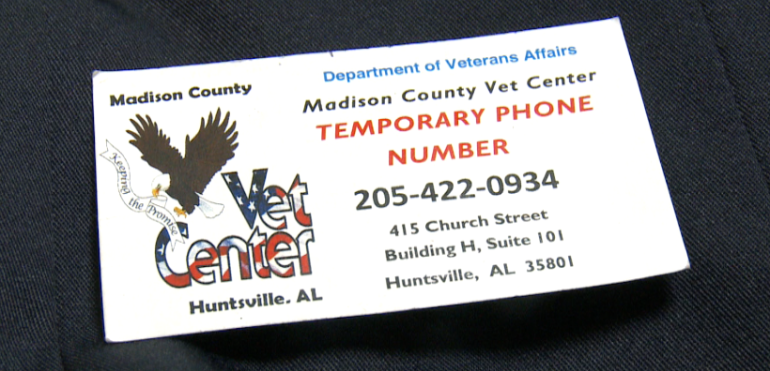 The Madison County Vet Center's temporary number is (205) 422-0934.