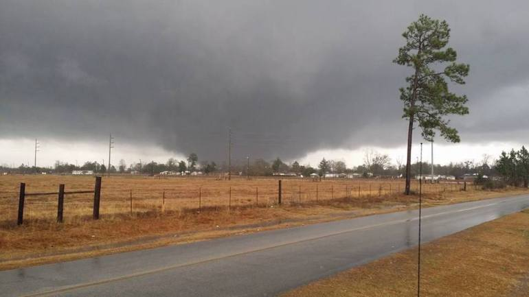 View of a large tornado near Century, Florida on Monday, February 15, 2016 (Photo: WEAR TV)