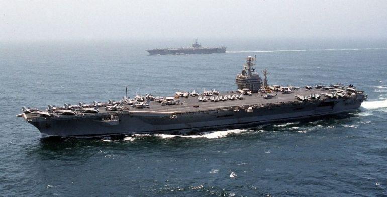 The USS Dwight D. Eisenhower (Wikipedia)