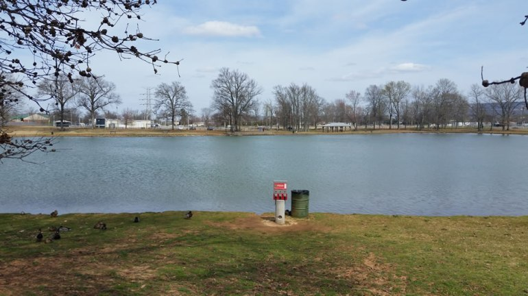 A man's body was found in Brahan Spring Park on March 9, 2016. (Photo: Dave Schmidt/WHNT News 19)