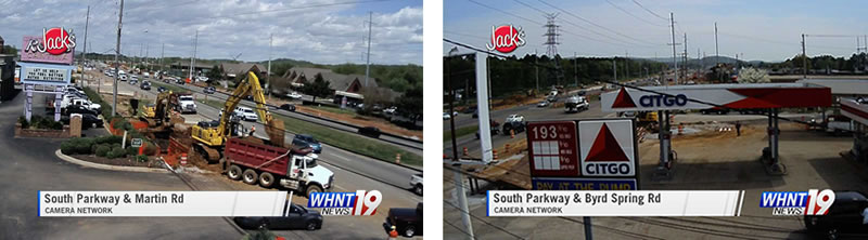 One camera faces north from Byrd Spring Road and the other looks south. (WHNT News 19/Jack's Camera Network)