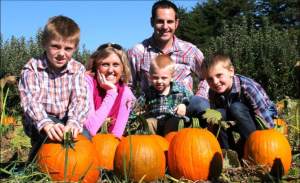 The Campe family, from left, Riley, Shannon, Brian, Cooper and Gunner (Photo courtesy Shannon Campe)
