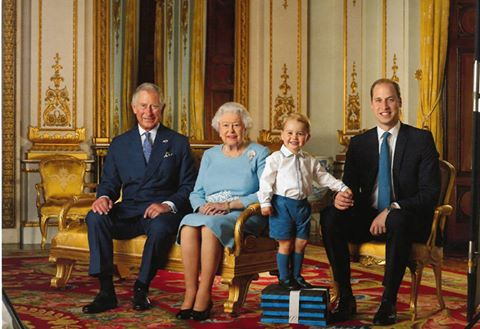 A photograph featuring four generations of the Royal Family (Image: The British Monarchy FB Page)