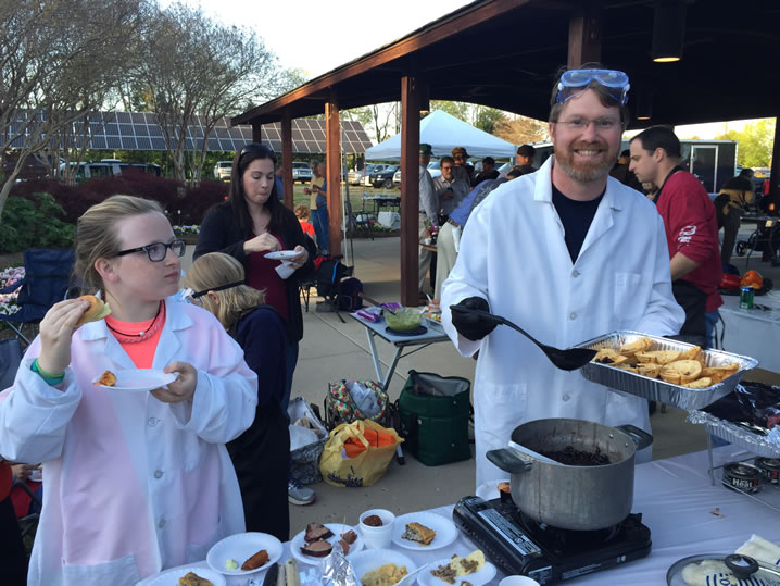 Elena Aiello and Cory Waltz, two members of the 'Geeks and Gastronomy' cook team. (Photo: Claire Aiello/WHNT News 19)
