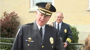Madison Police Chief Larry Muncey was found in contempt of court relating to Officer Eric Parker's first trial. (April 15, 2016)