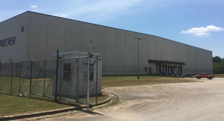 Farmers Home Furniture has bought this building in the Russellville Industrial Park for its new distribution center. (Photo: Carter Watkins/WHNT News 19)