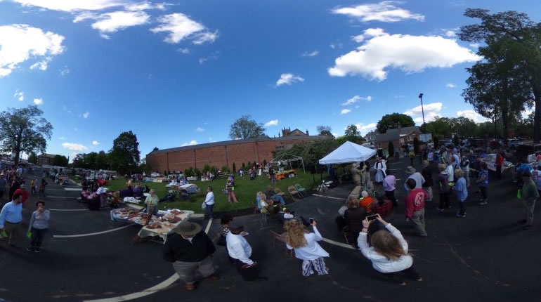 A 360-degree view of the Greene Street Market, at the corner of Greene Streeet and Eustis Avenue in downtown Huntsville. (Photo: Elaina Muenster/WHNT News 19)