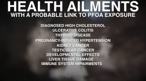 Health conditions linked to PFOA/PFOS exposure