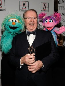NEW YORK - FEBRUARY 22: *EXCLUSIVE* TV personality Charles Osgood poses with Sesame Street characters at the 2010 AFTRA AMEE Awards at The Grand Ballroom at The Plaza Hotel on February 22, 2010 in New York City. (Photo by Larry Busacca/Getty Images for AFTRA)