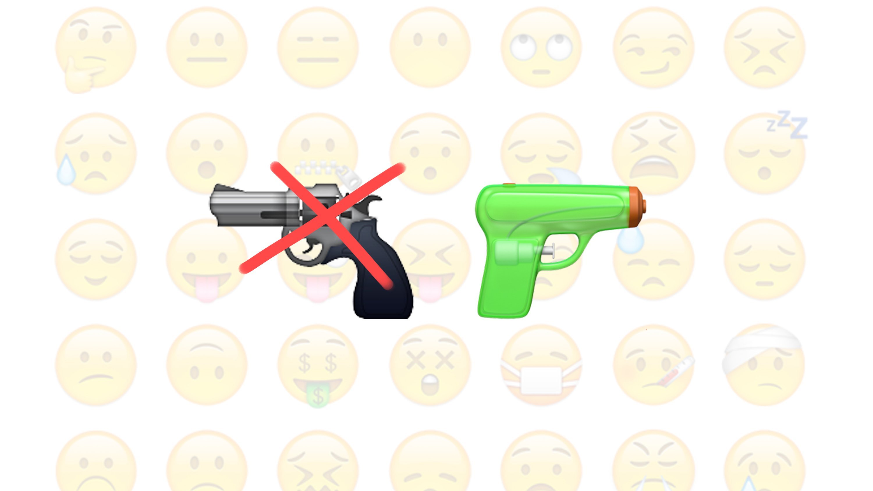 Bullets are out, water is in. Apple is replacing the controversial pistol emoji with a green water gun in the next version of its iPhone and iPad operating system, iOS 10.