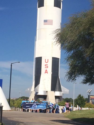 JCHS Jets band at the US Space and Rocket Center