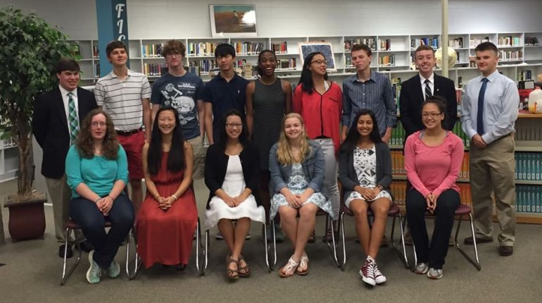 Grissom High School's National Merit Semifinalists from the Class of 2017. (Photo: Grissom High School PTSA/Facebook)