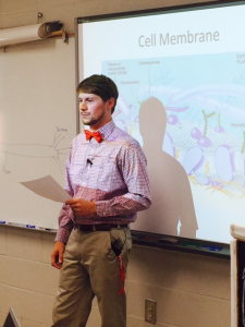 Kevin Hendrix, a teacher at Brindlee Mountain High School, teaches his 1st period class.