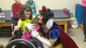 Kiersten hugs Snow White