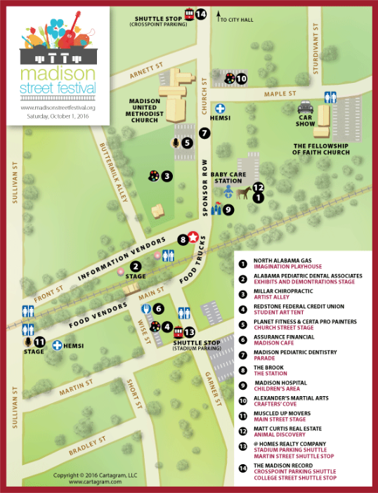 Madison Street Festival Map (courtesy of Madisonstreetfestival.org)