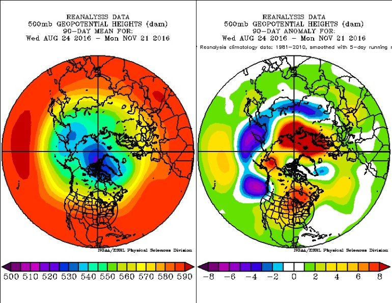 500 mb mean height/anomaly past 90 Sept. 23 to Nov. 23