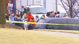 The scene outside Discovery Middle School in Madison in February 2010. (WHNT News 19 file)