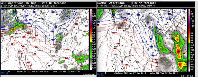 Both of these forecast models were run on Monday afternoon.