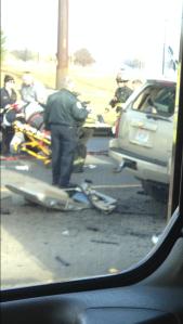 Officials hospitalized both drivers Photo: Derrick Nicols